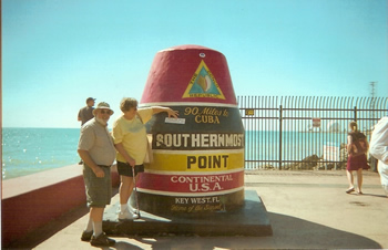 Southern point